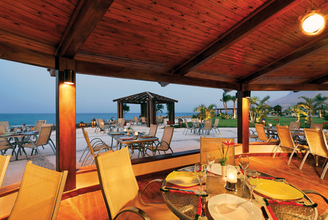 El Gezira restaurant overlooking the red sea during sunset